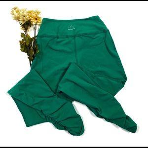 Beyond Yoga XXS Green Ruched Leggings